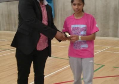 Black Arrows Girls Singles Winner 2012 - Jaina
