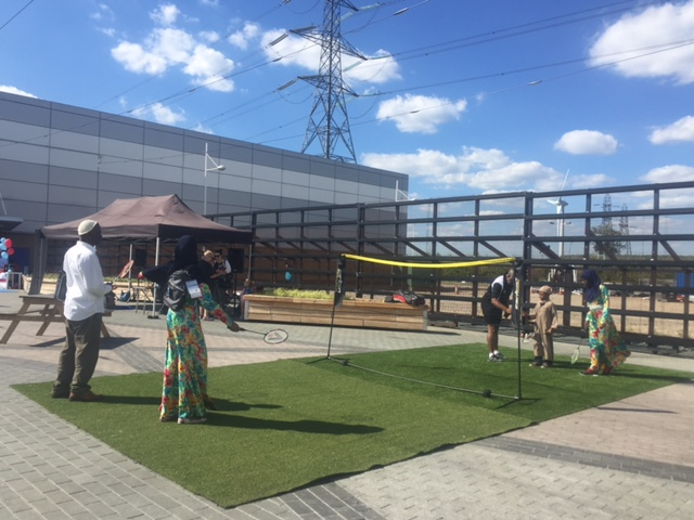 Black Arrows promotes Olympic Badminton @ Gallions Reach Shopping Park, Beckton