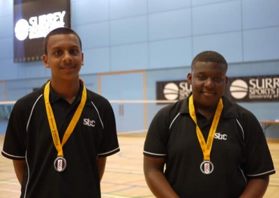 Shariff (2nd) and D'Reece (1st)